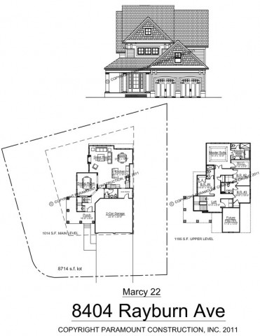 MArcey 22 New Home Plan on Bethesda Home For Sale